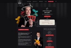 Création du logo et du site web et web design de steven-le-magicien