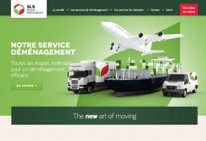 Création du site et du logo SLS Move Relocation
