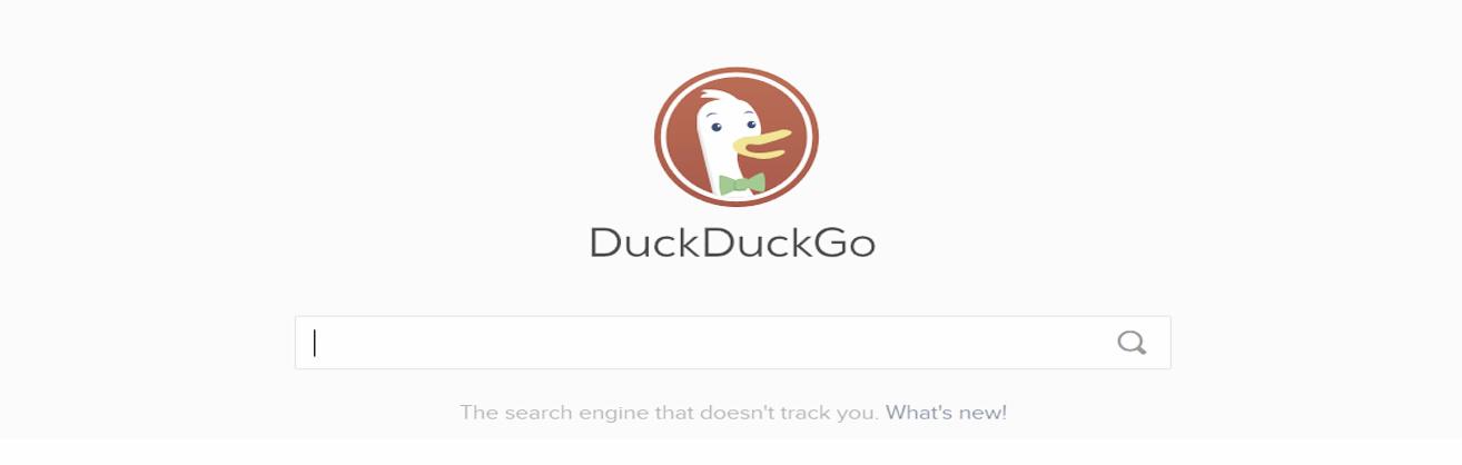 Illustration de la page d'accueil DuckDuckGo