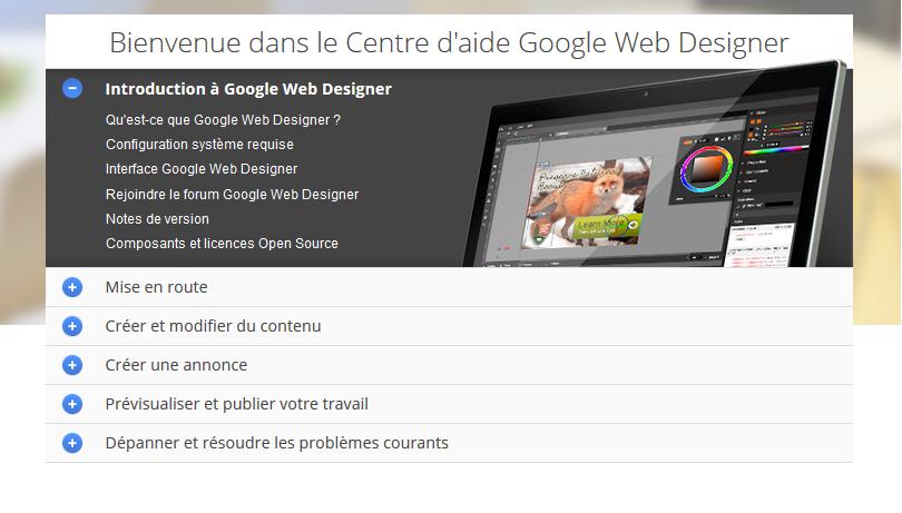 centre d'aide google web designer