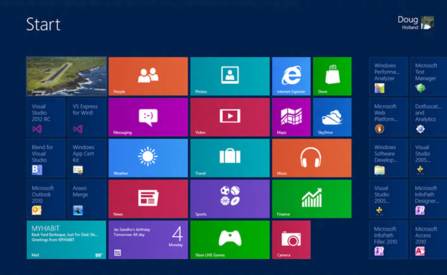 Metro Design Windows 8