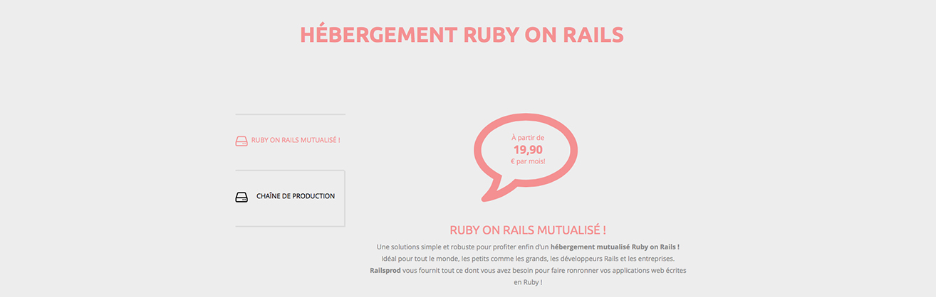 Hébergement Ruby on Rails pour sites internet et applications web