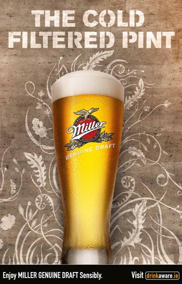 Les campagnes d'affichage de la bière Miller