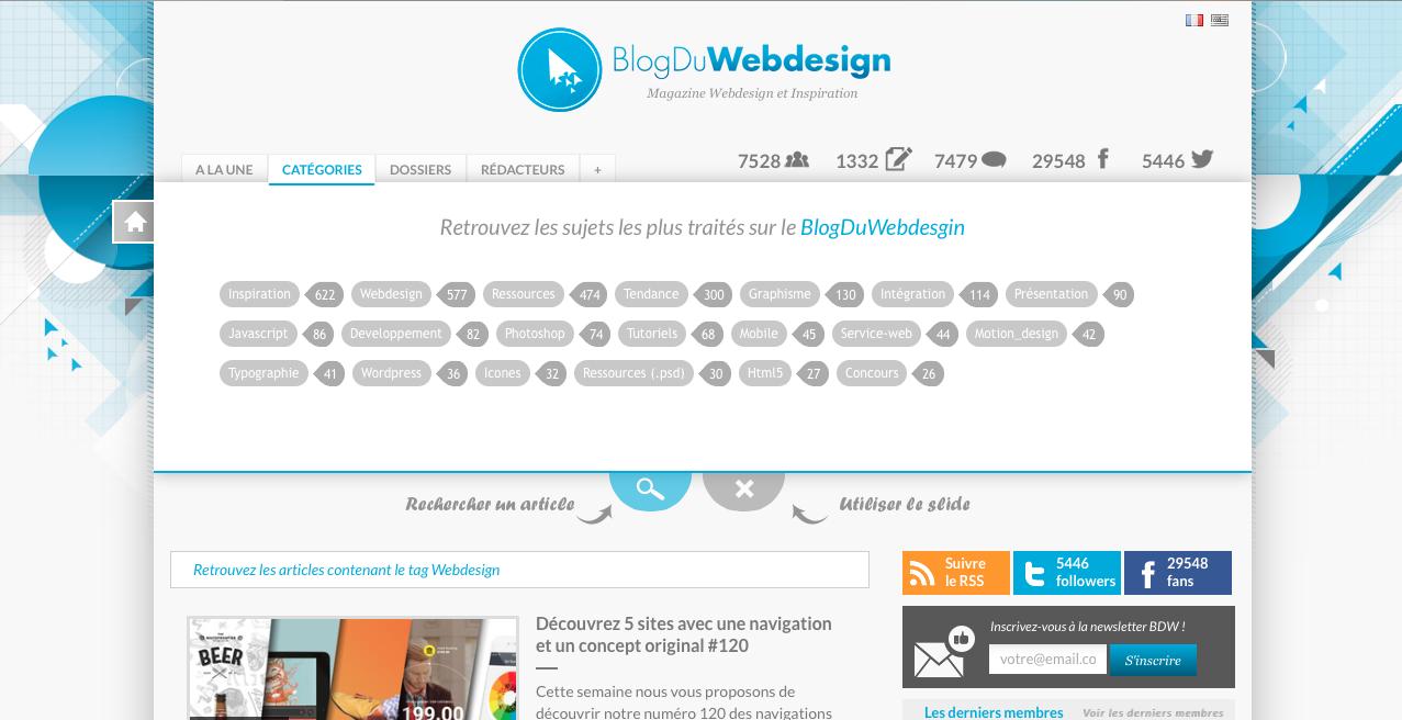 Catégories de mots-clés, Blog Du Webdesign