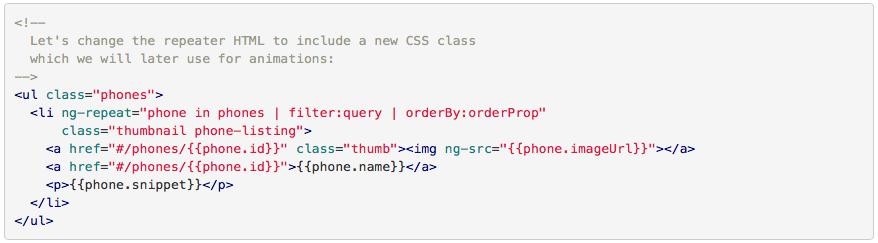 Exemple d'écriture de code avec Angular JS