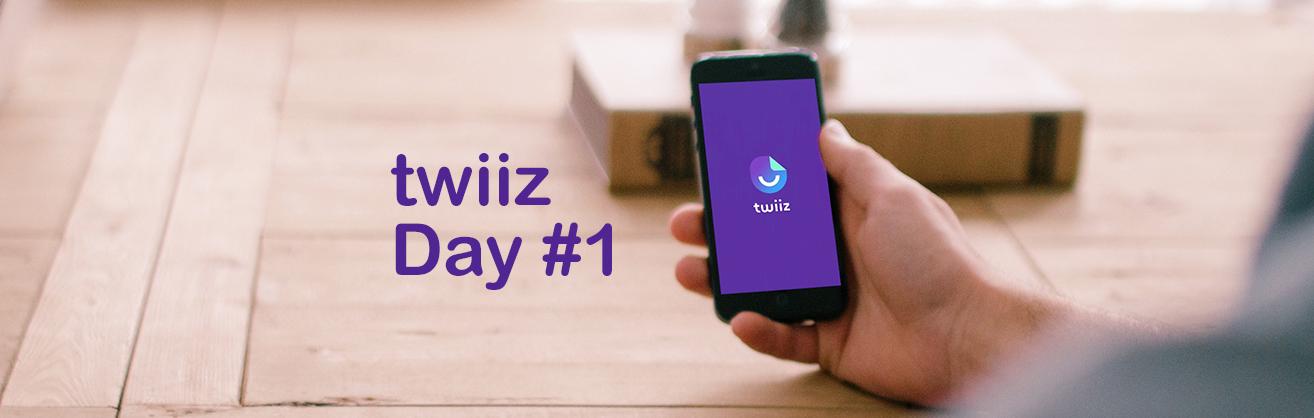 Développement de l'application mobile TWIIZ, 1er jour
