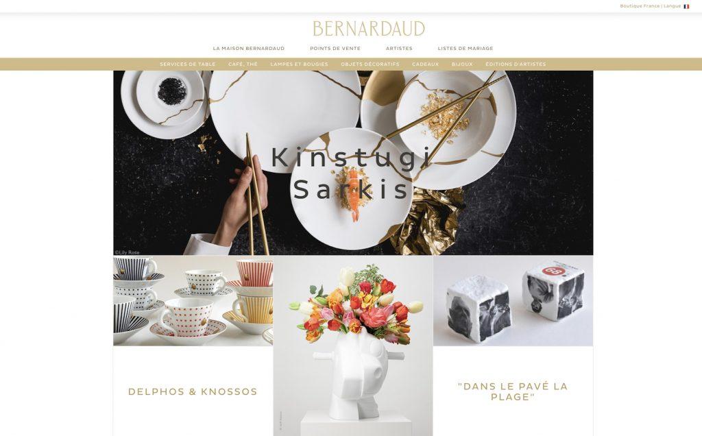 Site vitrine de Bernardaud