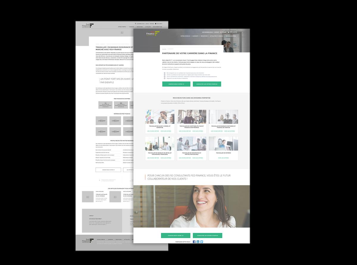 identite visuelle et webdesign responsive de fedfinance