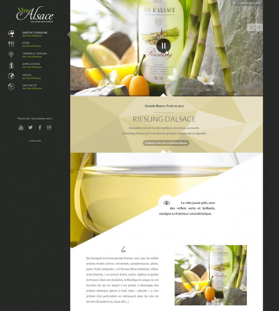 Page produit vins d'alsace