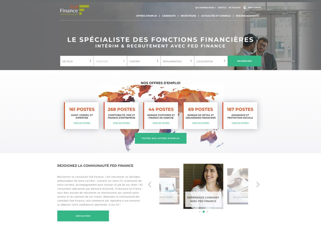 Fedfinance, refonte du site de la marque de recrutement