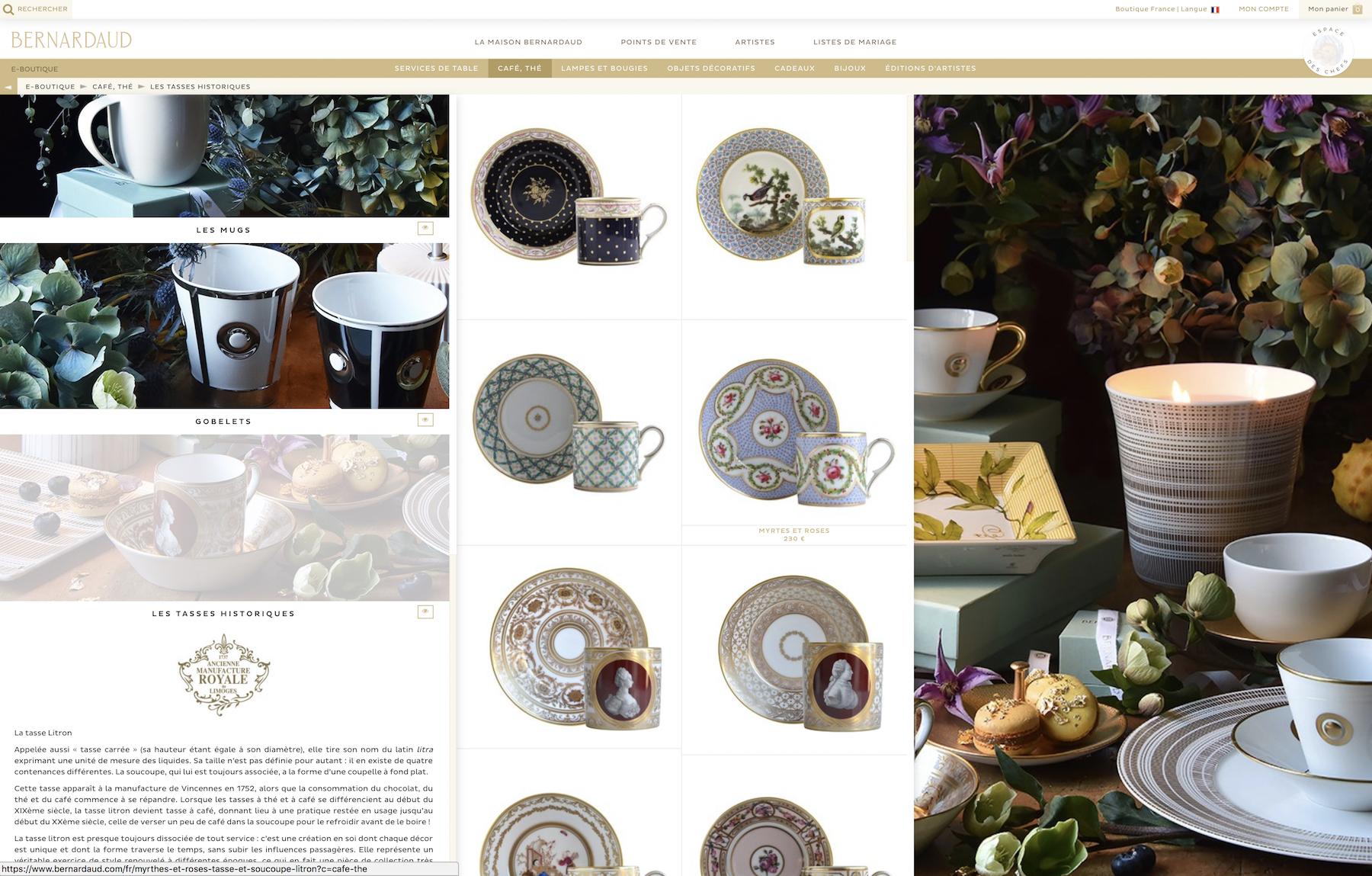 achat en ligne porcelaine bernardaud