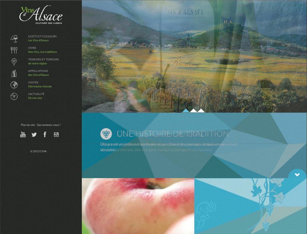 La refonte du site des vins d'alsace en 2014