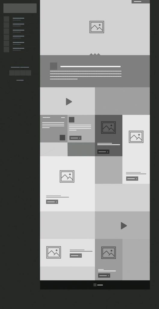 Mockup de la page d'accueil