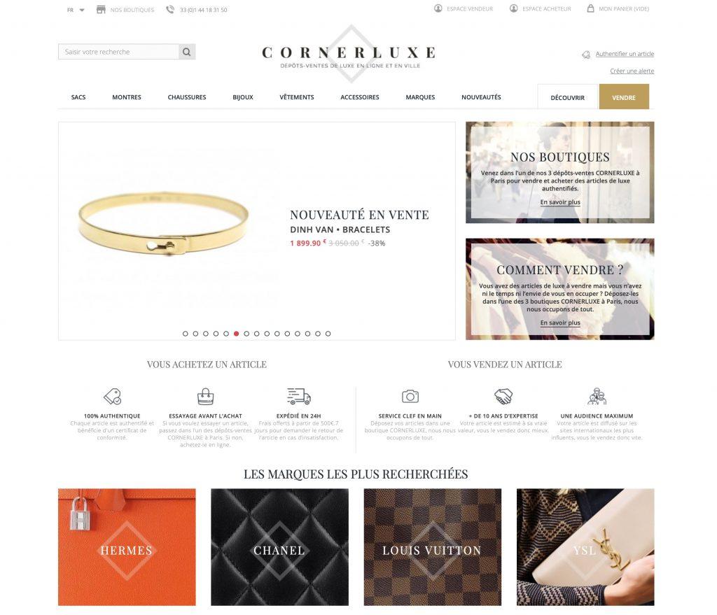 Page d'accueil présentant les produits mis en avant à l'achat