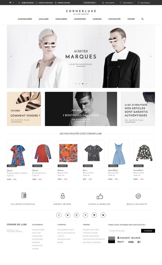 home page avec prestashop