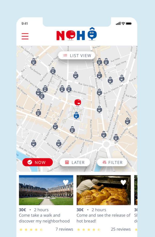 carte interactive pour localiser les activités autour de soi