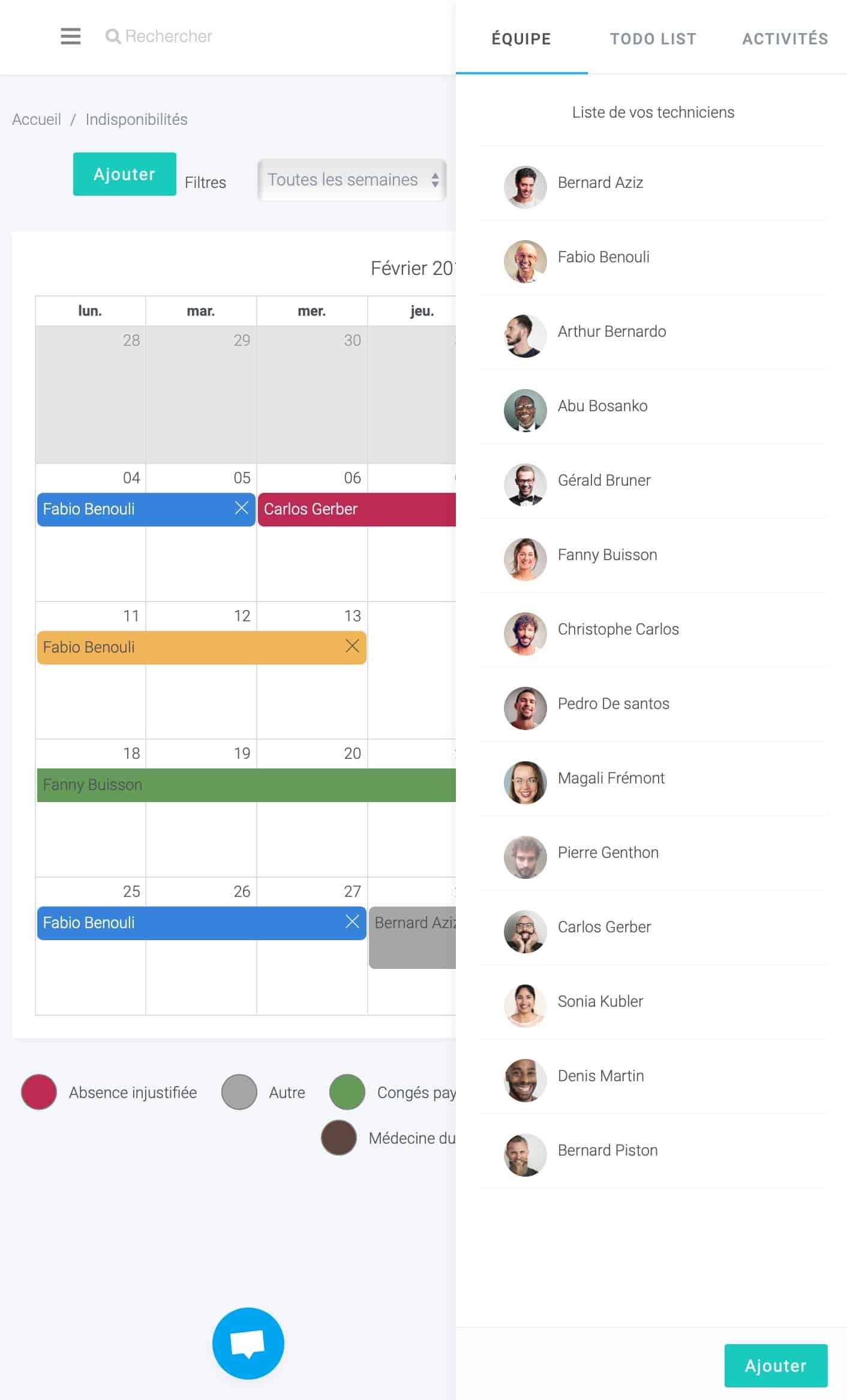 agence digitale exemple de création d'application de gestion de plannings